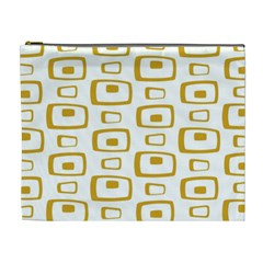 Plaid Gold Cosmetic Bag (xl)
