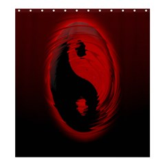 Red Black Taichi Stance Sign Shower Curtain 66  X 72  (large)