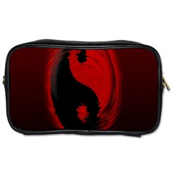 Red Black Taichi Stance Sign Toiletries Bags 2 Side by Jojostore