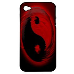 Red Black Taichi Stance Sign Apple Iphone 4/4s Hardshell Case (pc+silicone)