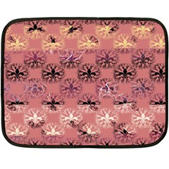 Overlays Pink Flower Floral Double Sided Fleece Blanket (mini)