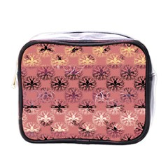 Overlays Pink Flower Floral Mini Toiletries Bags