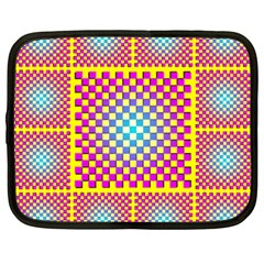 Rotational Plaid Purple Blue Yellow Netbook Case (xxl)