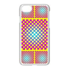 Rotational Plaid Purple Blue Yellow Apple Iphone 7 Seamless Case (white)