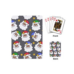 Santa Claus Face Mask Crismast Playing Cards (mini)  by Jojostore