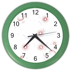 Red Glow Effect Color Wall Clocks by Jojostore