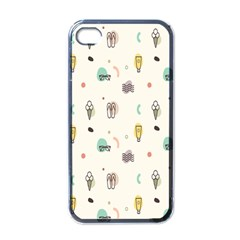 Slippers Lamp Glasses Ice Cream Grey Wave Water Apple Iphone 4 Case (black)
