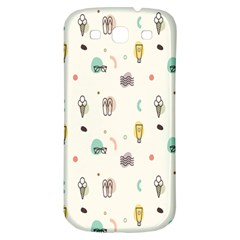 Slippers Lamp Glasses Ice Cream Grey Wave Water Samsung Galaxy S3 S Iii Classic Hardshell Back Case