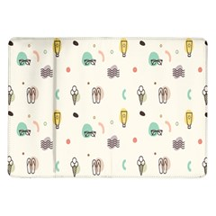 Slippers Lamp Glasses Ice Cream Grey Wave Water Samsung Galaxy Tab 10 1  P7500 Flip Case by Jojostore