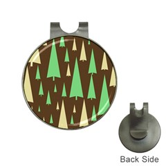 Spruce Tree Grey Green Brown Hat Clips With Golf Markers by Jojostore