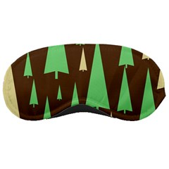Spruce Tree Grey Green Brown Sleeping Masks