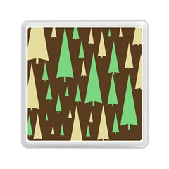 Spruce Tree Grey Green Brown Memory Card Reader (square)