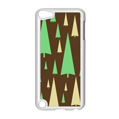 Spruce Tree Grey Green Brown Apple Ipod Touch 5 Case (white)