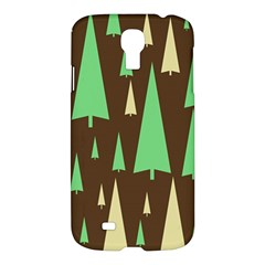 Spruce Tree Grey Green Brown Samsung Galaxy S4 I9500/i9505 Hardshell Case