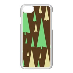 Spruce Tree Grey Green Brown Apple Iphone 7 Seamless Case (white)