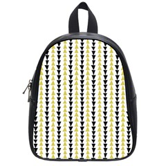 Triangle Green Black Yellow School Bags (small)