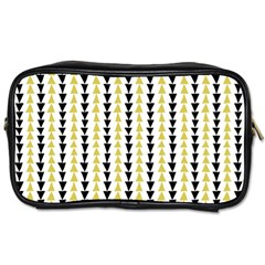 Triangle Green Black Yellow Toiletries Bags 2 Side