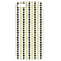 Triangle Green Black Yellow Apple Iphone 5 Hardshell Case With Stand