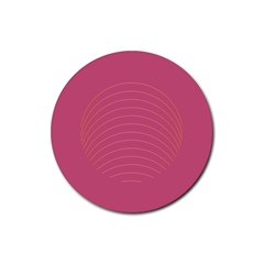 Tumblr Static Pink Wave Fingerprint Rubber Round Coaster (4 Pack)  by Jojostore