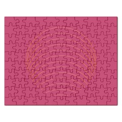 Tumblr Static Pink Wave Fingerprint Rectangular Jigsaw Puzzl by Jojostore