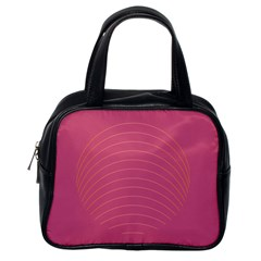 Tumblr Static Pink Wave Fingerprint Classic Handbags (one Side)