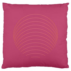 Tumblr Static Pink Wave Fingerprint Large Cushion Case (one Side) by Jojostore