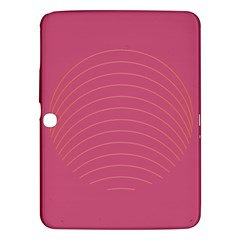 Tumblr Static Pink Wave Fingerprint Samsung Galaxy Tab 3 (10 1 ) P5200 Hardshell Case  by Jojostore