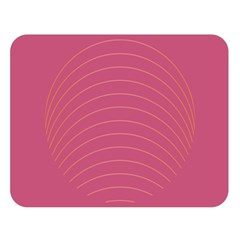 Tumblr Static Pink Wave Fingerprint Double Sided Flano Blanket (large)