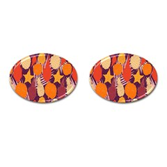 Tropical Mangis Pineapple Fruit Tailings Cufflinks (oval)