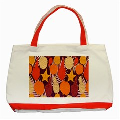 Tropical Mangis Pineapple Fruit Tailings Classic Tote Bag (red)