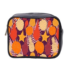 Tropical Mangis Pineapple Fruit Tailings Mini Toiletries Bag 2 Side