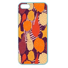 Tropical Mangis Pineapple Fruit Tailings Apple Seamless Iphone 5 Case (color)