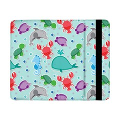 Turtle Crab Dolphin Whale Sea World Whale Water Blue Animals Samsung Galaxy Tab Pro 8 4  Flip Case by Jojostore