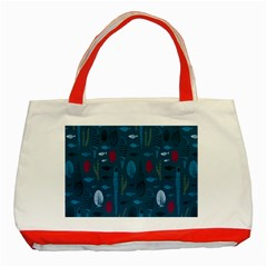 Sea World Fish Ccoral Blue Water Classic Tote Bag (red)