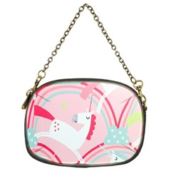 Unicorn Animals Horse Pink Rainbow Chain Purses (one Side)