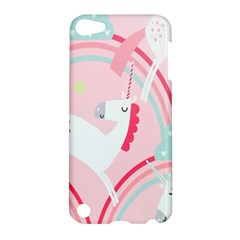 Unicorn Animals Horse Pink Rainbow Apple Ipod Touch 5 Hardshell Case