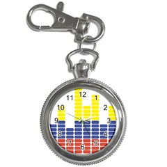 Volumbia Olume Circle Yellow Blue Red Key Chain Watches by Jojostore