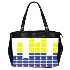 Volumbia Olume Circle Yellow Blue Red Office Handbags (2 Sides)  by Jojostore