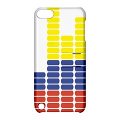 Volumbia Olume Circle Yellow Blue Red Apple Ipod Touch 5 Hardshell Case With Stand