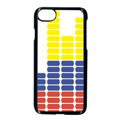 Volumbia Olume Circle Yellow Blue Red Apple Iphone 7 Seamless Case (black) by Jojostore