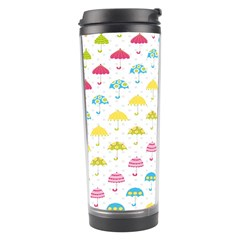 Umbrella Tellow Blue Red Pink Green Color Rain Kid Travel Tumbler by Jojostore