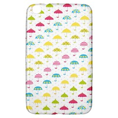 Umbrella Tellow Blue Red Pink Green Color Rain Kid Samsung Galaxy Tab 3 (8 ) T3100 Hardshell Case  by Jojostore