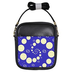 Vortical Universe Fractal Blue Girls Sling Bags by Jojostore