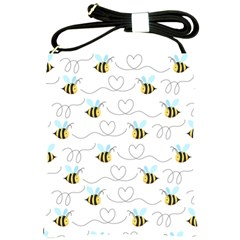 Wasp Bee Fly Yellow Black Blue Hanny Love Shoulder Sling Bags by Jojostore