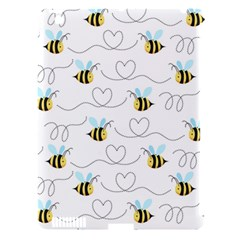 Wasp Bee Fly Yellow Black Blue Hanny Love Apple Ipad 3/4 Hardshell Case (compatible With Smart Cover)