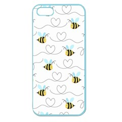 Wasp Bee Fly Yellow Black Blue Hanny Love Apple Seamless Iphone 5 Case (color)