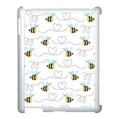Wasp Bee Fly Yellow Black Blue Hanny Love Apple Ipad 3/4 Case (white) by Jojostore