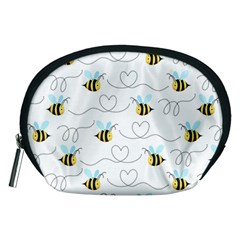 Wasp Bee Fly Yellow Black Blue Hanny Love Accessory Pouches (medium)