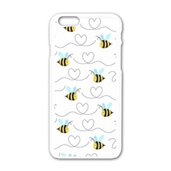 Wasp Bee Fly Yellow Black Blue Hanny Love Apple Iphone 6/6s White Enamel Case by Jojostore