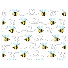 Wasp Bee Fly Yellow Black Blue Hanny Love Double Sided Flano Blanket (medium)
